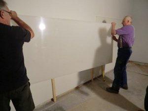 Umbau, Schießstand, Lattung, Leiter, Kunststoff, Glänzend Rückwand