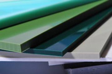 glänzende Kunststoffe, grün,dunkelgrün grau Fächer
