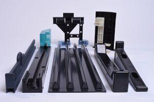 Fertigteile, Spritzguss, glänzendes schwarzes Material