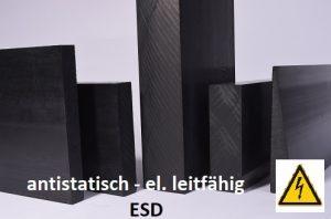 schwarzer Kunststoff, antistatisch elektrisch leitfähig ESD