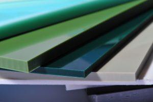 Kunststoff, glatte Oberfläche, dunkelgrün, grau Fächer ABS