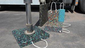 Hydraulik, Standfuß, Platten mit Kordel, Regeneratplatten