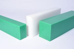 PE-HD Platte 500 x 500 x 30 mm PE300 Natur Polyethylen